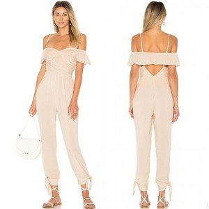 Free People Off the Shoulder Jumpsuit